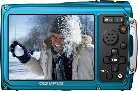 Olympus TOUGH TG-320 Rugged Digital Camera back