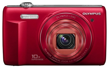 Olympus VR-340 Camera with 10x Optical Zoom red
