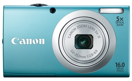 Canon PowerShot A2400 IS digital camera blue