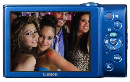 Canon PowerShot A4000 IS digital camera blue back