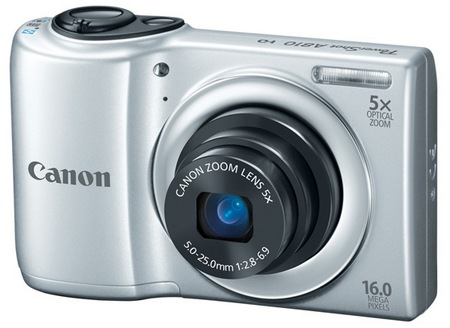 Canon PowerShot A810 Digital Camera uses AA Batteries Silver