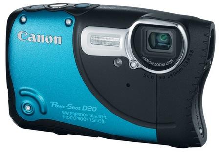 Canon PowerShot D20 Waterproof, Shockproof, Freezeproof Camera blue