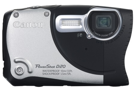 Canon PowerShot D20 Waterproof, Shockproof, Freezeproof Camera silver