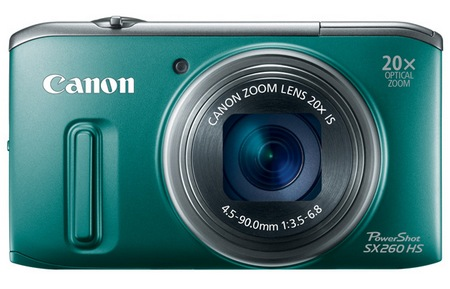 Canon PowerShot SX260 HS GPS 20x zoom digital camera green