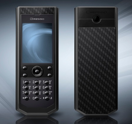 Gresso Grand Monaco Pure Black Carbon Luxury Phone