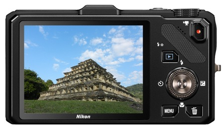 Nikon CoolPix S9300 Compact Long Zoom Camera with GPS back