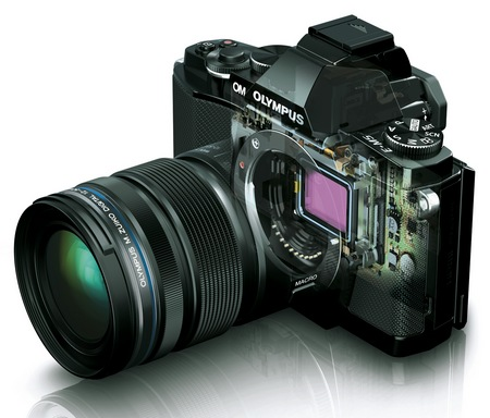 Olympus OM-D E-M5 Micro Four Thirds Camera transparent