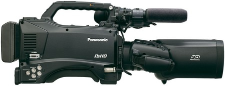 Panasonic AG-3DP1 Twin-lens 3D P2 HD Shoulder-mount Camcorder side