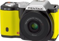 Pentax K-01 Interchangeable Lens Camera Designed by Marc Newson yellow