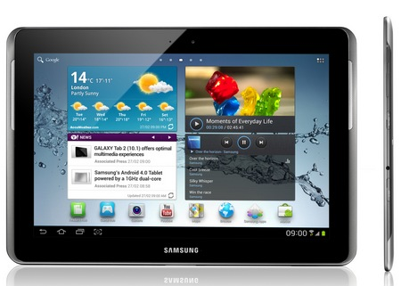 Samsung Galaxy Tab 2 10.1 Android 4.0 ICS Tablet side
