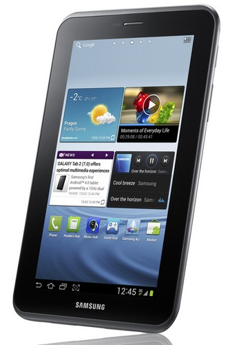 Samsung Galaxy Tab 2 (7.0) Tablet Running Ice Cream Sandwich