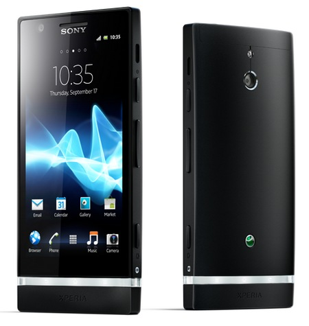 Sony Xperia P Smartphone with Aluminium Unibody and WhiteMagic Display black