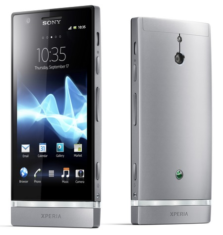 Sony Xperia P Smartphone with Aluminium Unibody and WhiteMagic Display silver