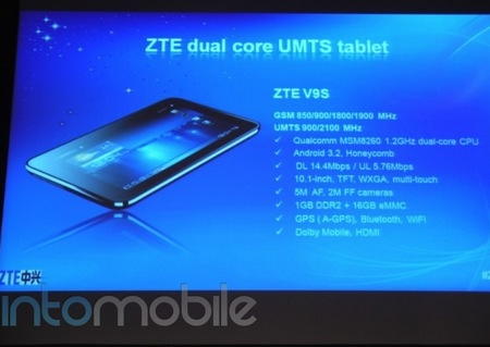 ZTE V9S Android tablet