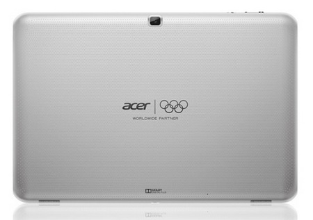 Acer Iconia Tab A510 Quad-core Android 4.0 Tablet white back