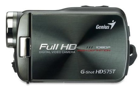 Genius G-Shot HD575T Full HD Camcorder side