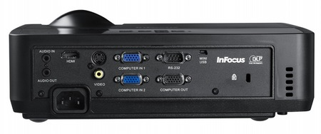 InFocus IN122 and IN124 DLP Projectors ports