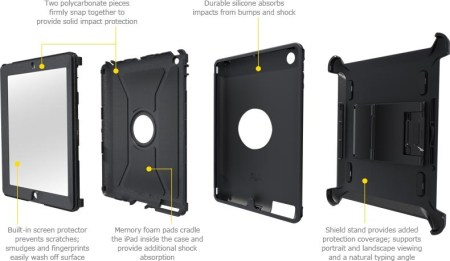 OtterBox Defender Series iProtection Case for new iPad layers 1
