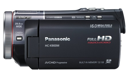 Panasonic HC-X900M Full HD Camcorder with 3MOS System Pro and Leica Lens side