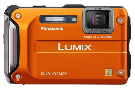 Panasonic LUMIX DMC-TS4 Rugged Camera with GPS orange
