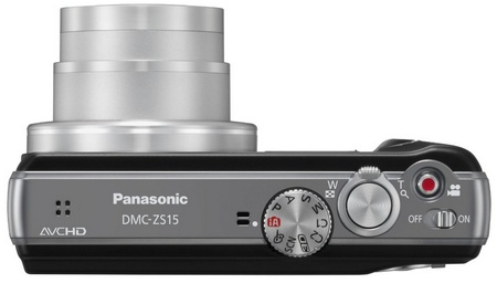 Panasonic LUMIX DMC-ZS15 16x Zoom Camera top