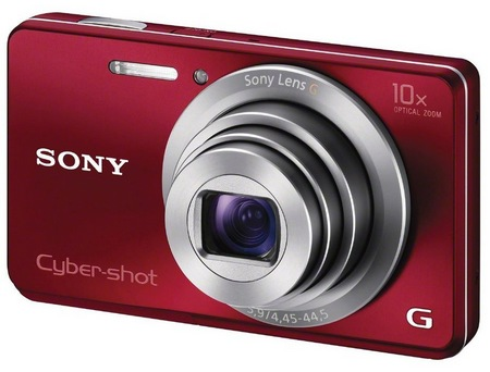 Sony Cyber-shot DSC-W690 Thinnest 10x Optical Zoom Camera red