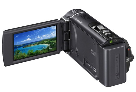 Sony Handycam HDR-CX190, HDR-CX200 and HDR-CX210 Entry-level Camcorders display