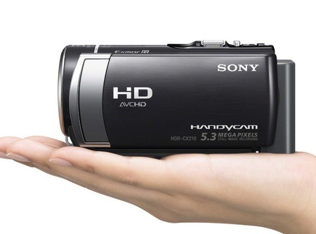 Sony Handycam HDR-CX210 Entry-level Camcorder on hand
