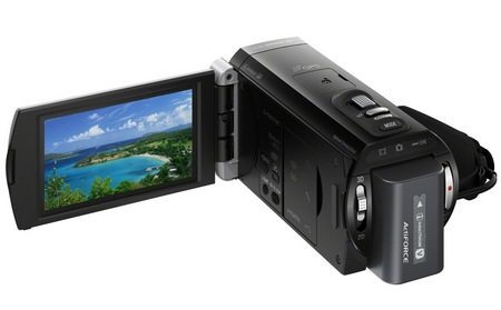 Sony Handycam HDR-TD20V Double Full HD 3D Camcorder display