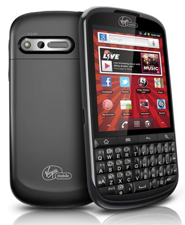 Virgin Mobile Alcatel One Touch Venture QWERTY Android Phone