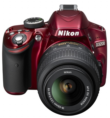 Nikon D3200 Entry-level DSLR Camera front red