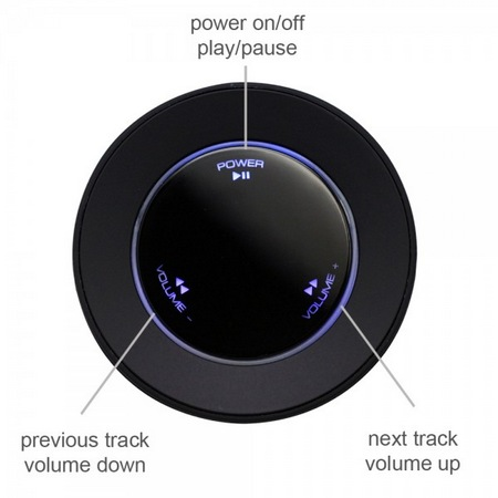 Satechi ST-66BTA Audio Cube Portable Bluetooth Speaker control