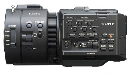 Sony NXCAM NEX-FS700U Full HD Super Slow Motion Camcorder side