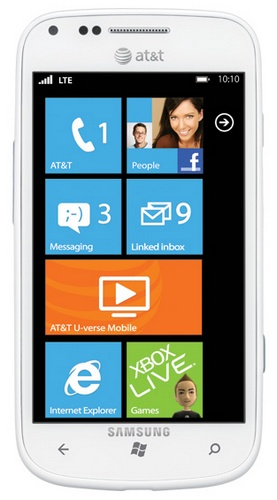 AT&T Samsung Focus 2 Windows Phone supports 4G LTE