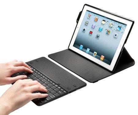 Kensington KeyFolio Secure Keyboard Case and Lock for iPad 2 typing