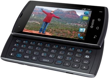 Kyocera Rise QWERTY Smartphone keyboard