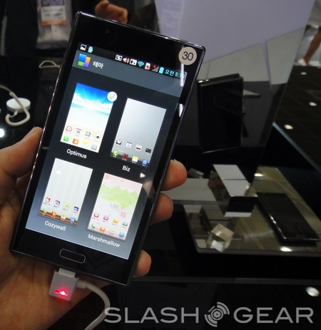 LG Optimus LTE2 Smartphone with 2GB RAM themes