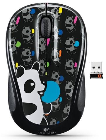Logitech Wireless Mouse M325 Global Graffiti Collection Panda Candy