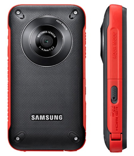 Samsung Pocket Cam HMX-W300 Rugged Pocket Full HD Camcorder red