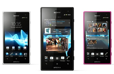 Sony Xperia acro S Waterproof Smartphone colors