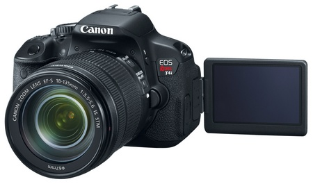 Canon EOS Rebel T4i 650D Digital SLR Camera swivel display