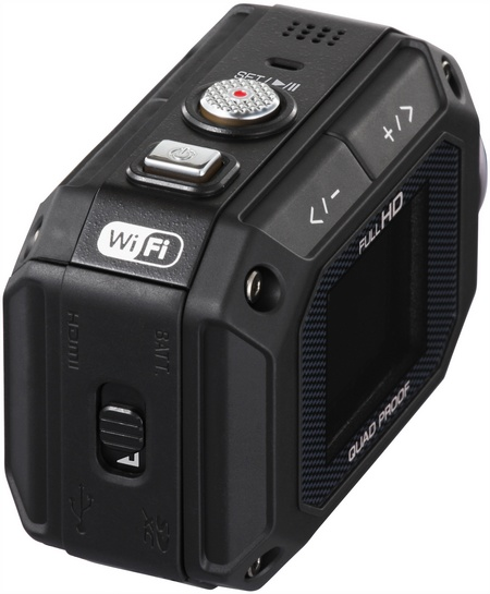 JVC ADIXXION GC-XA1 Quad-proof Rugged Action Camera angle
