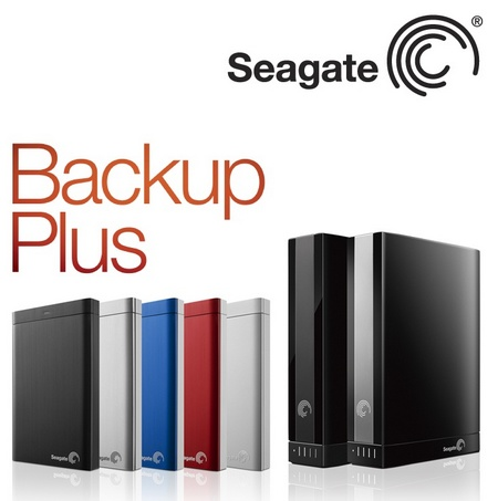 Seagate Backup Plus Hard Drives offer One-click Backup