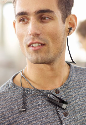 Sony Smart Wireless Headset pro in use