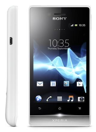 Sony Xperia miro Social Smartphone white