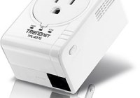 TRENDnet TPL-407E Compact 500Mbps Powerline AV Adapter with Outlet