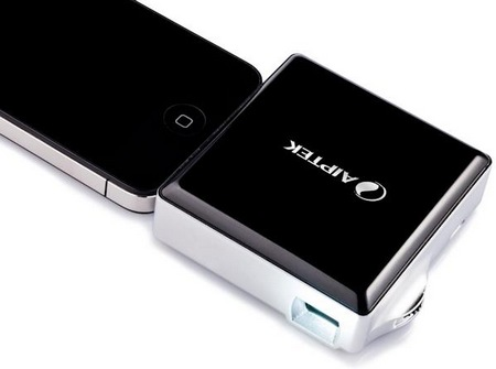 Aiptek MobileCinema i50D pico projector dongle for ios devices iphone