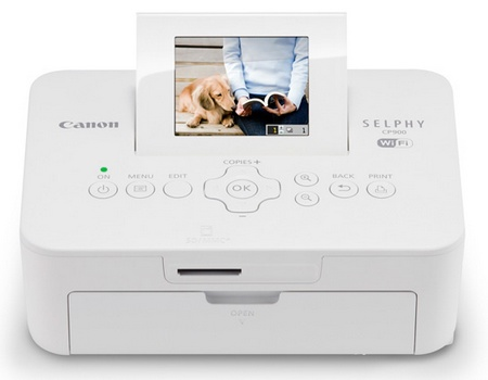 Canon SELPHY CP900 Compact Photo Printer with WiFi white