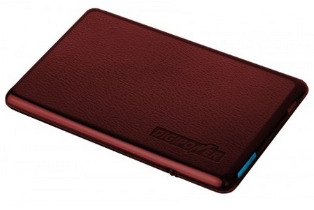 Digipower ChargeCard Credit Card Sized Portable Battery red
