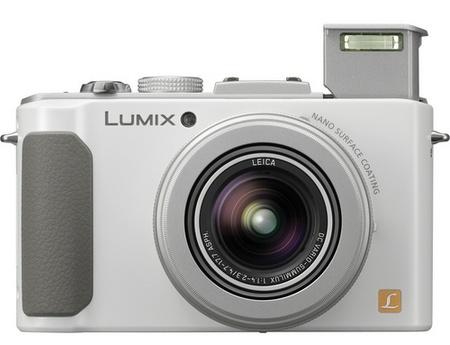 Panasonic LUMIX DMC-LX7 Digital Camera with F1.4 Lens white flash open